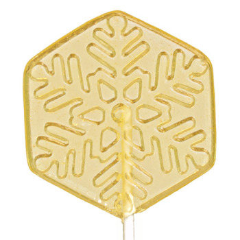 Lime Snowflake Lollipop