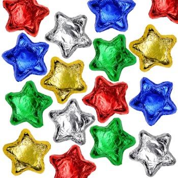 Milk Chocolate Stars - Assorted Colors