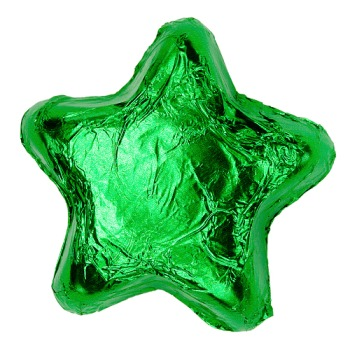 Milk Chocolate Stars - Green