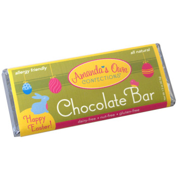 Allergy-Friendly Happy Easter Chocolate Bar