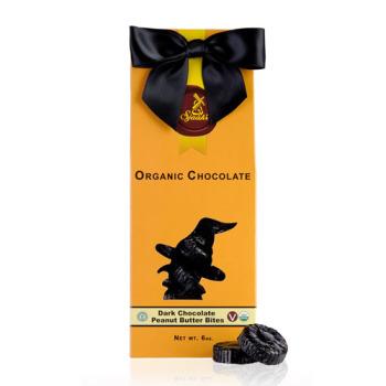Halloween Dark Chocolate Peanut Butter Bites