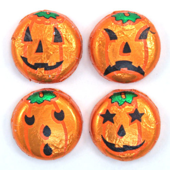 Milk Chocolate Jack-O'-Lantern Discs