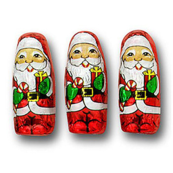 Milk Chocolate Mini Santas
