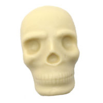 White Chocolate Scary Skull