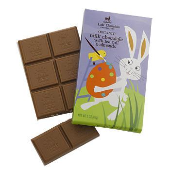 Organic Milk Chocolate with Sea Salt & Almonds Bunny Bar - DISCONTINUED