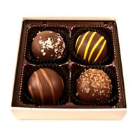 Dark Chocolate Truffles Holiday Assortment