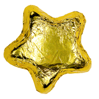 Milk Chocolate Stars - Gold
