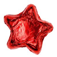 Milk Chocolate Stars - Red