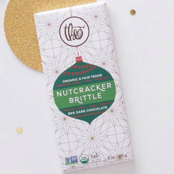 Theo Nutcracker Brittle Dark Chocolate Bar