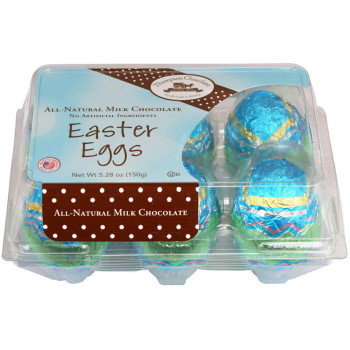 Jumbo Milk Chocolate Easter Eggs, 1/2 Dozen