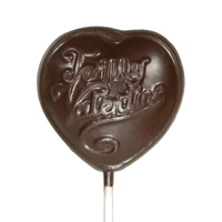 Allergy-Friendly Chocolate Heart Lollipop
