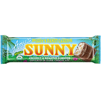 Amy's SUNNY Organic Candy Bar (Coconut & Roasted Almonds & Dark Chocolate)