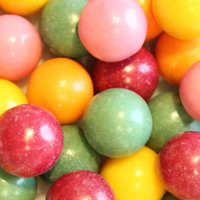 Unwrapped Natural Jumbo Gumballs (22 mm)