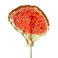 Creepy Brains Cherry Lollipop