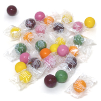 Individually Wrapped Natural Jumbo Gumballs - Citrus Berry