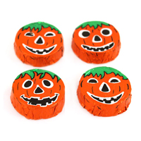 Crispy Milk Chocolate Jack-O'-Lanterns