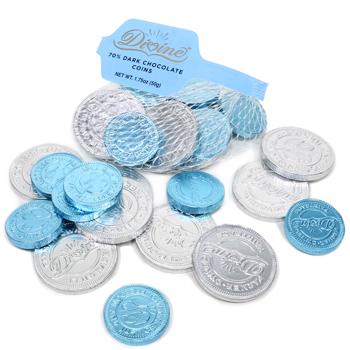 70% Dark Chocolate Coins - Fair Trade