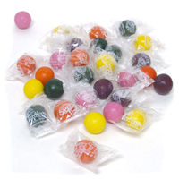 Individually Wrapped Natural Jumbo Gumballs - Fantastic Fruit
