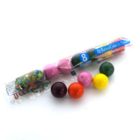 Natural Jumbo Gumballs Tube - Fantastic Fruit