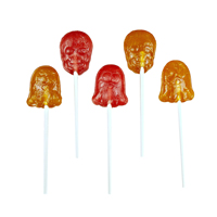 Organic Ghost & Skull Lollipops