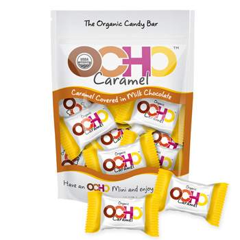 Mini OCHO Organic Candy Bars - Caramel