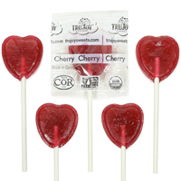 Organic Heart Lollipops