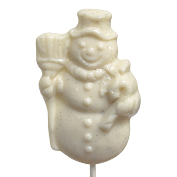 Vanilla Snowman Lollipop