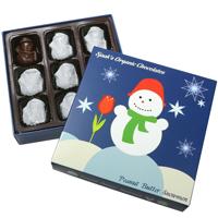 Vegan Peanut Butter Crunch Snowman Gift Box