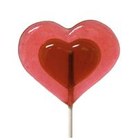 Watermelon Heart Lollipop